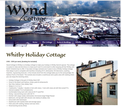 Wynd cottage website